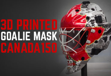 Proto Types 3d printer goalie mask for Canada's 150